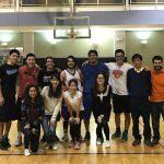 JHU Intramural Basketball League winners and fans