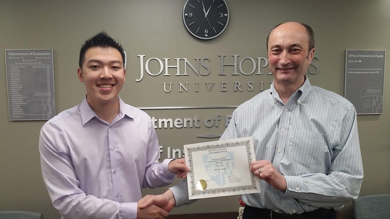 Kevin Yuan - Joel Dean Award